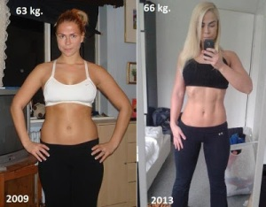 Body Transformation - Girl with Abs muscle - 66 kg